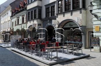 Letná terasa kaviareň